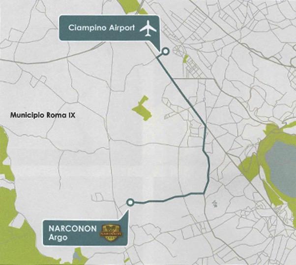 Mappa Narconon Argo Roma